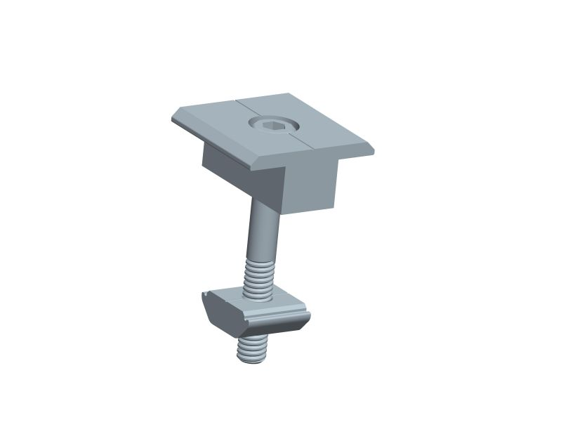 Inter clamp for Triangle flat roof mounting system