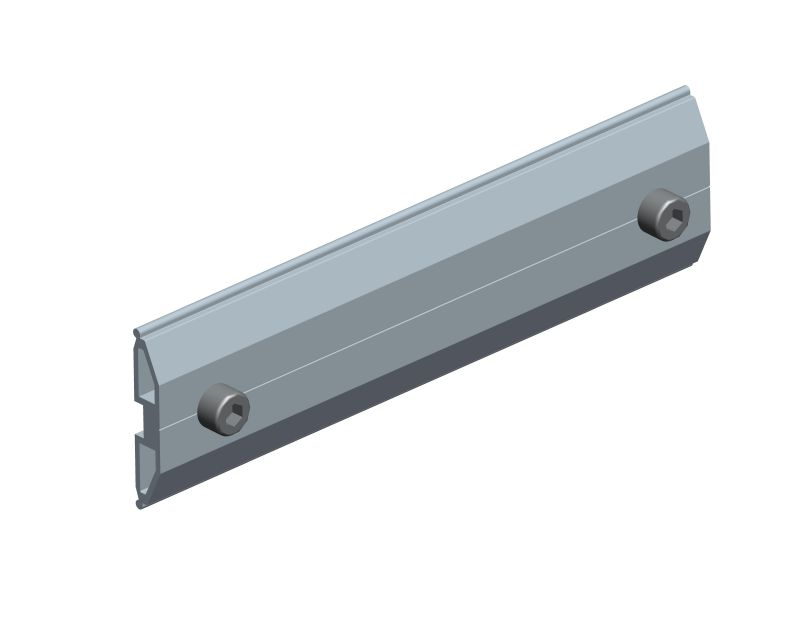 rail splice for non-penetrating ballasted solar racking
