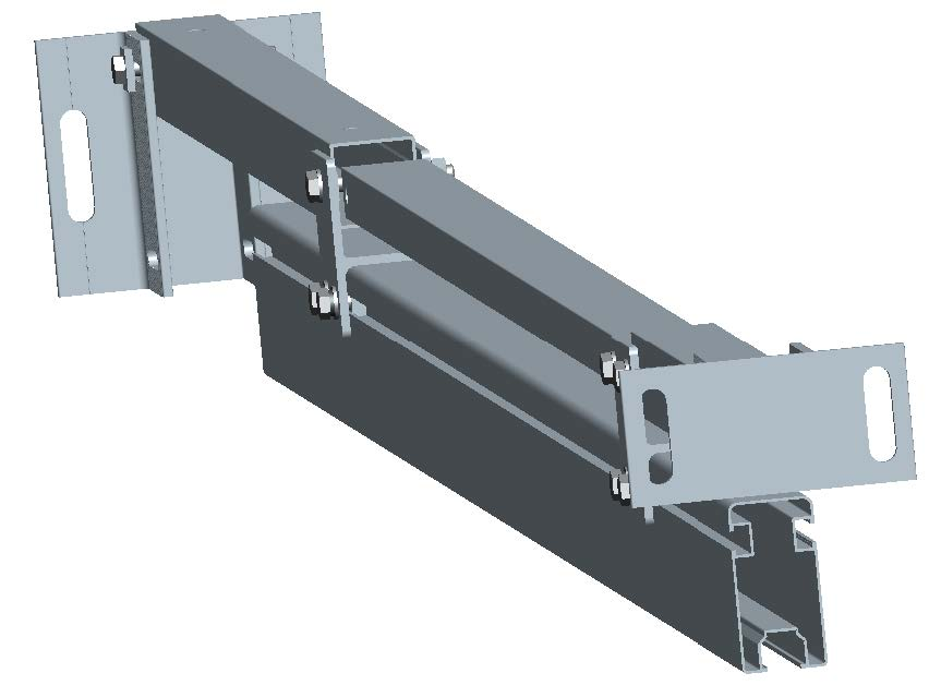 aluminum ground mounting structure pre-assembled support