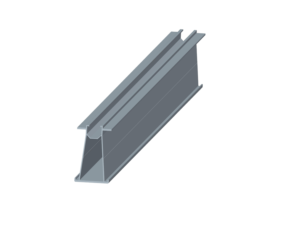 Rail for solar panel carport system