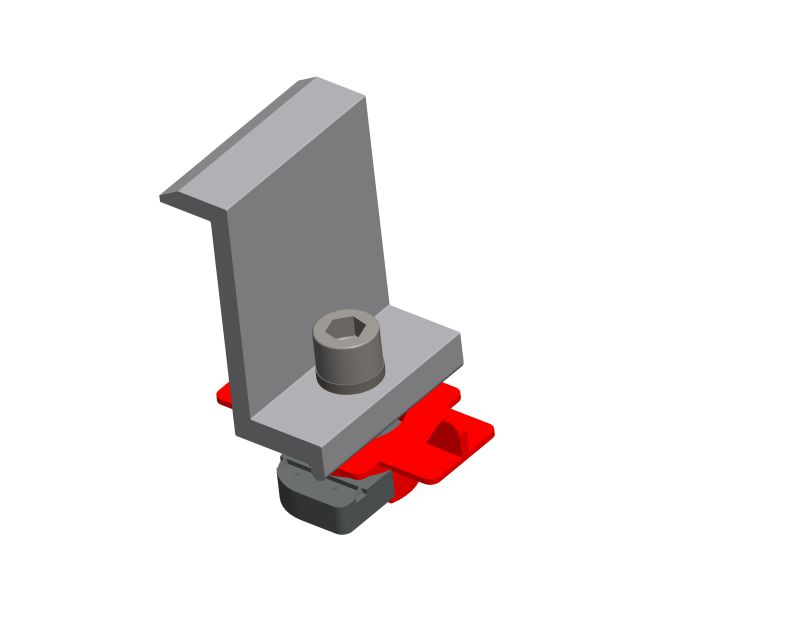 End clamp for steel terrain groung mounting system