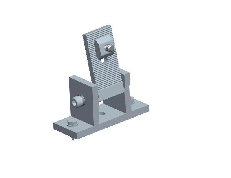 front leg for Adjustable tilt flat roof mounting system