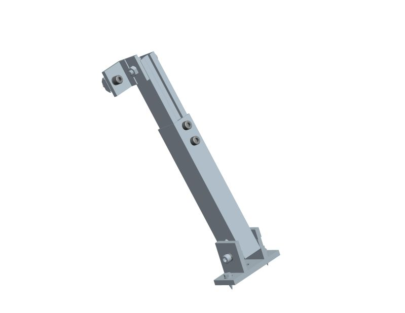 back leg for Adjustable tilt flat roof mounting system