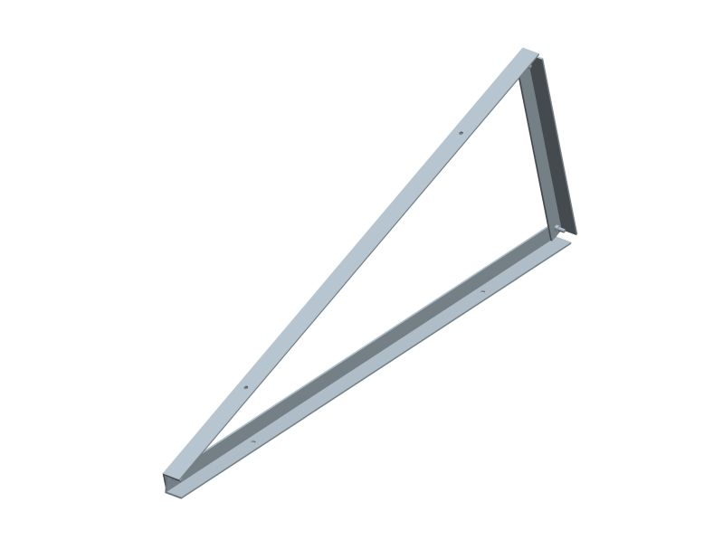 Pre-assembled triangle support for Triangle flat roof mounting system