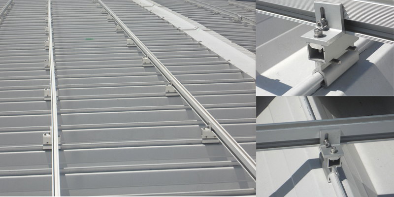 solar racking ,solar mounting solution for metal roofs with standing seam design