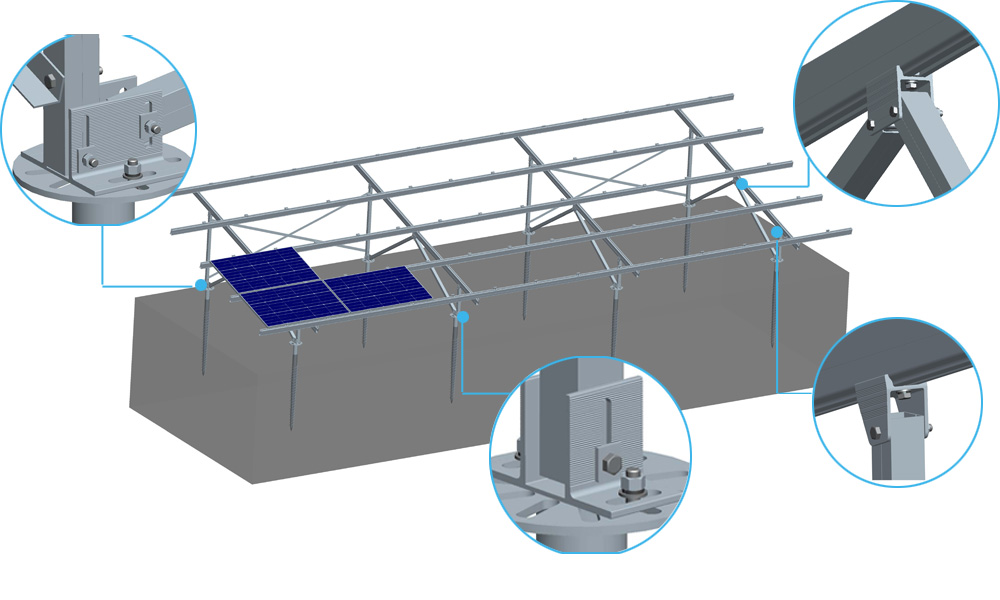 Antaisolar Solar Panel Mounting Structure