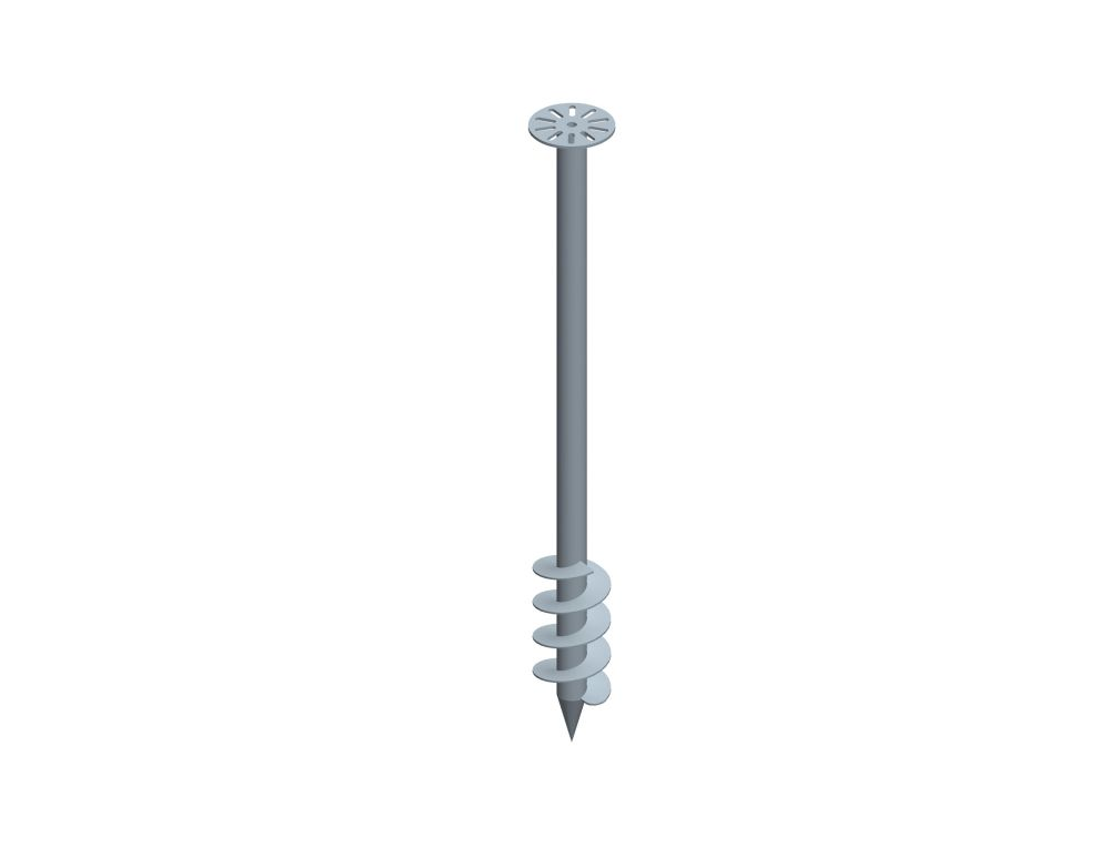 Ground screw for Agricultural Greenhouses Mounting System