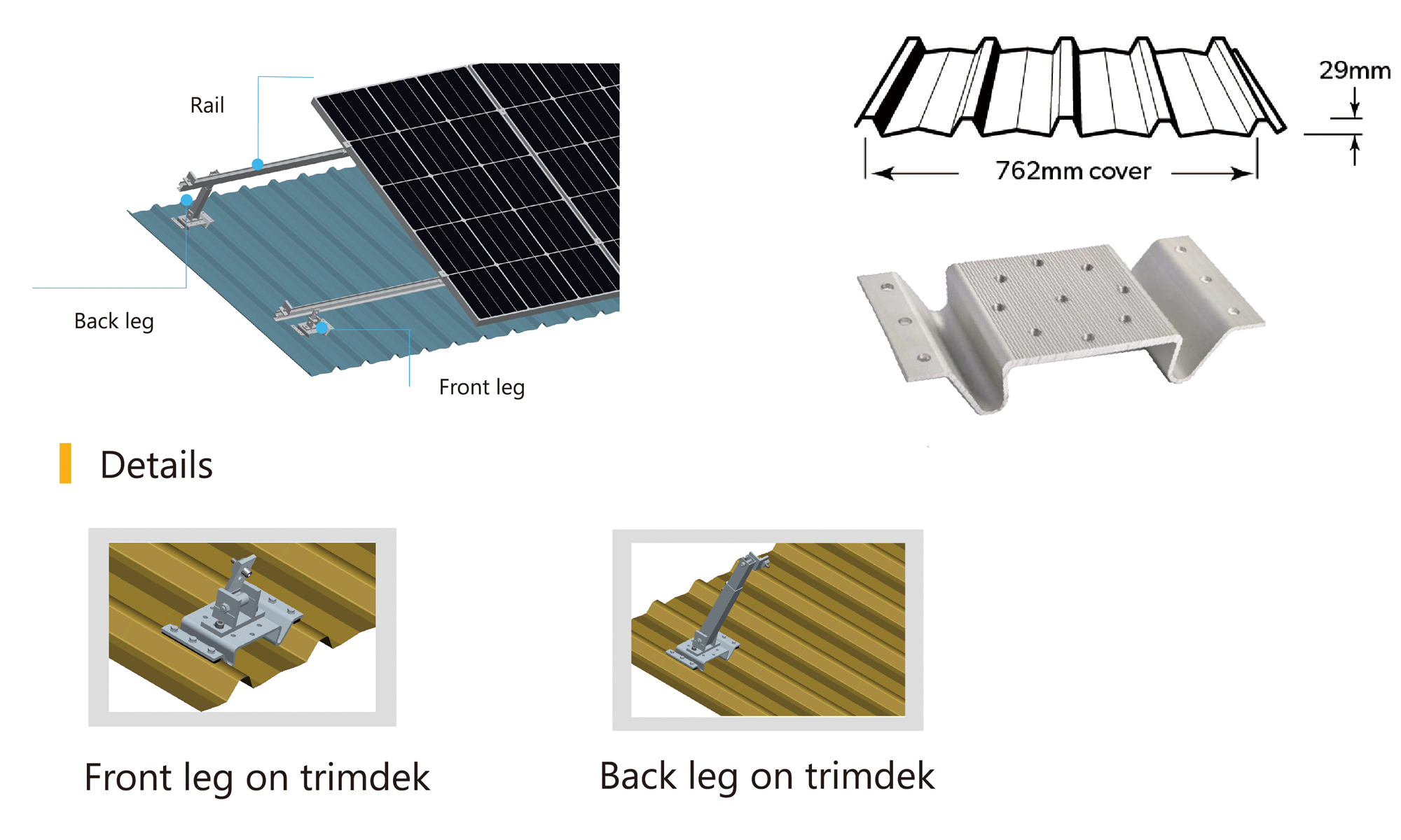 Solar adjustable mounting system