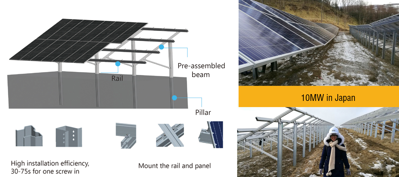 Antaisolar pile ramming solar mounting system
