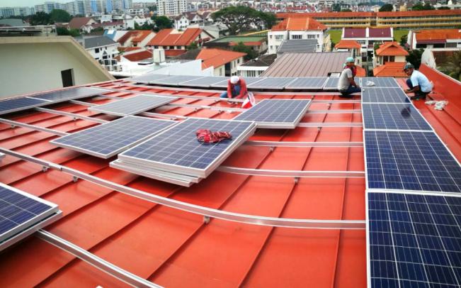 Trapezoidal solar mounting