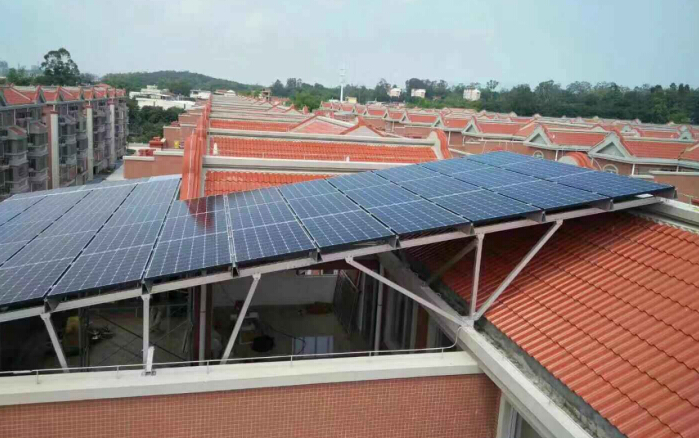 Antaisolar provided solar roof shed racking for several projects in China